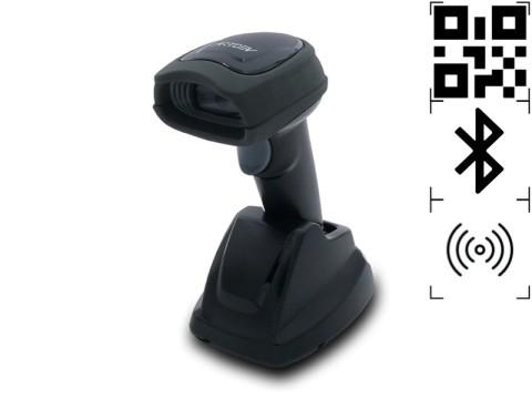 AS-3310 - Kabelloser 2D-Barcodescanner, Bluetooth, USB-KIT, schwarz