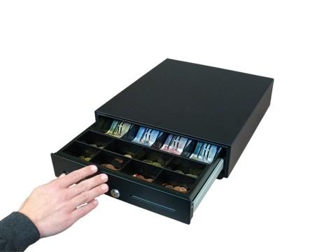 HS360A-B One Touch Standard - **Manuelle Öffnung** Metall-Kassenlade - 8C/4B - anthrazit