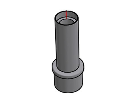 Applikation für Kundendisplay - Rohrdurchmesser 54mm für Arcline