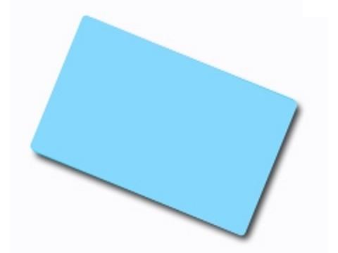 Plastikkarte - 30mil, 0.76mm (blanko) - hellblau