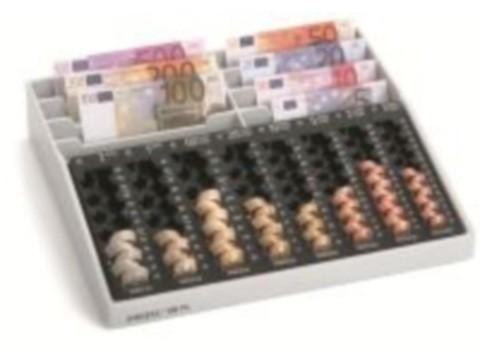 Kassenkombination - REKORD 88 PL mit 8 Einzelmünzbehältern und 8 Banknoten-Steilfächern