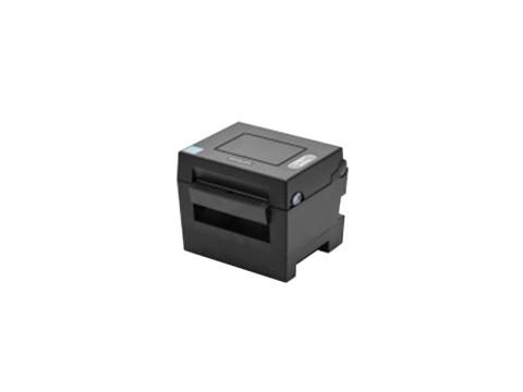 SLP-DL410 - Etikettendrucker für Leporello-Papier, thermodirekt, 203dpi, USB + Bluetooth, Abschneider, dunkelgrau