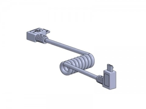 Micro-USB-Kabel, gedreht für Dock & Charge