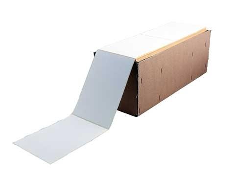 Etikettenrolle - Thermodirekt, 110 x 162mm, Leporello gefaltet, 2000 Etiketten/Karton, permanent