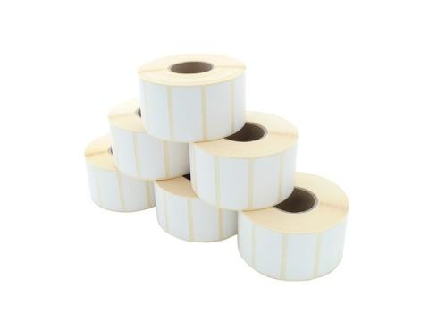 Etikettenrolle - Thermodirekt 53 x 26mm, D40mm, Kern 19, 200 Etiketten/Rolle, permanent