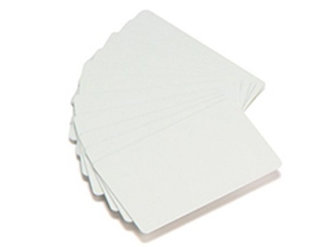 Plastikkarte - 20mil, 0.50mm (blanko), weiss ++Abgabe nur als VPE 100ter Pack++