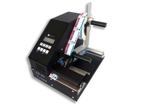Distri-U - Etikettenzähler mit Ultraschall-Etikettensensor für transparente und schwarze Etiketten, Kerngrösse 25.4 - 76mm