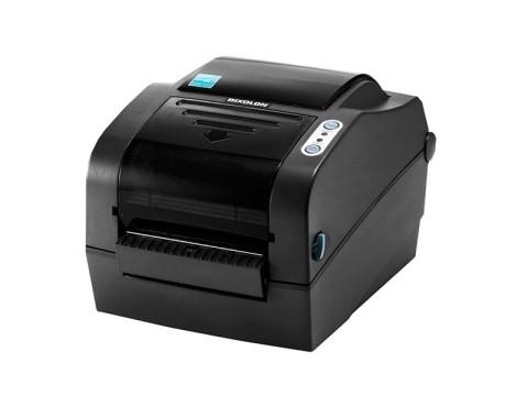 SLP-TX423 - Etikettendrucker, thermotransfer, 300dpi, USB + RS232 + Parallel, Abschneider, dunkelgrau