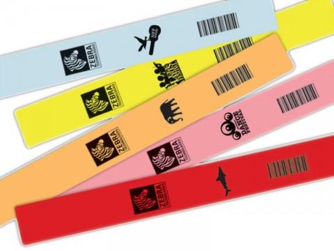 Z-Band Fun - Armband-Kassetten mit Selbstklebe-Verschluß, pink, für eintägige Events, 25 x 254mm