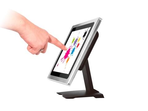 """TM1600-20TU - 9.7"""" Aluminium Touchmonitor mit True Flat Display, **kapazitivem Industrie Touchscreen und USB-Hub**"""