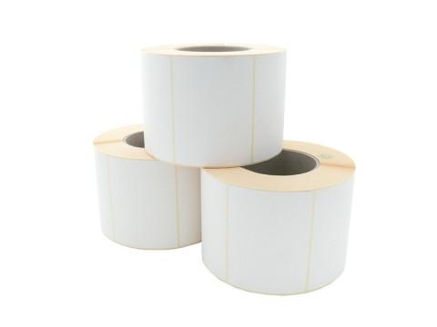 Etikettenrolle - Thermodirekt, 100 x 74mm, D160mm, Kern 76, 1250 Etiketten/Rolle, permanent, perforiert