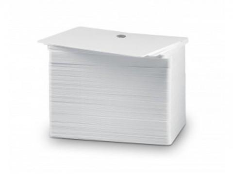 Plastikkarte Premium - 30mil, 0.76mm (blanko), weiss, mit Langloch kurze Seite für Kartendruck ++Abgabe nur als VPE 500ter Pack++
