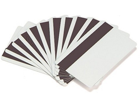 Plastikkarte - 30mil, Composite (60/40), 0.76mm mit unprogrammiertem Hi-Co Magnetstreifen (blanko) - weiss