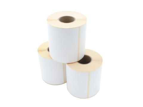 Etikettenrolle - Thermotransfer, 101,6 x 101,6mm, D110mm, Kern 40, 480 Etiketten/Rolle, permanent