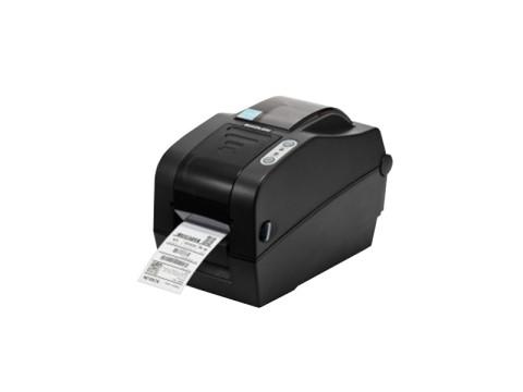 SLP-TX223 - Etikettendrucker, thermotransfer, 300dpi, USB + RS232 + Ethernet, Abschneider, dunkelgrau