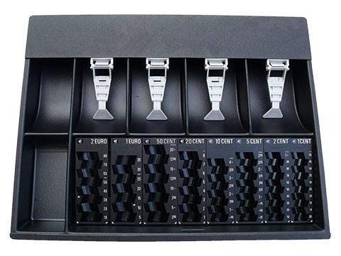 Münzzähleinsatz (Zählbrett) Inkiess*Modifizierung* für HS408 Kassenlade(HS408-Deckel) - 8500 RE mit 8 Einzelmünzbehältern, 4 Banknotenfächern