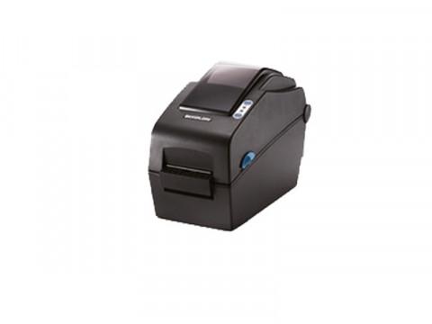 SLP-DX220 - Etikettendrucker, thermodirekt, 203dpi, Druckbreite 54mm, USB + Ethernet, Peeler, dunkelgrau