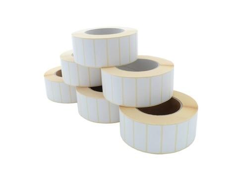 Etikettenrolle - Thermotransfer, 50 x 20mm, D135mm, Kern 76, 3000 Etiketten/Rolle, permanent