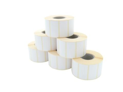 Etikettenrolle - Thermodirekt 50 x 30mm, D127mm, Kern 40, 2300 Etiketten/Rolle, permanent, 27 Rollen/VPE