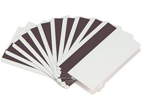 Plastikkarte - 30mil, 0.76mm mit unprogrammiertem Hi-Co Magnetstreifen(blanko) - weiss