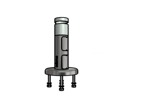 Sockel - Rohrdurchmesser 40mm, Höhe 180mm, Kabelausschnitt im Fuss und oben für FlexiStand