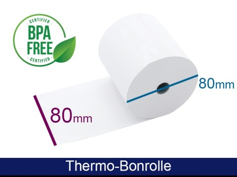 Thermorolle - 80 80 12.7 (B/D(max.)/K) weiss, 55g, 80m