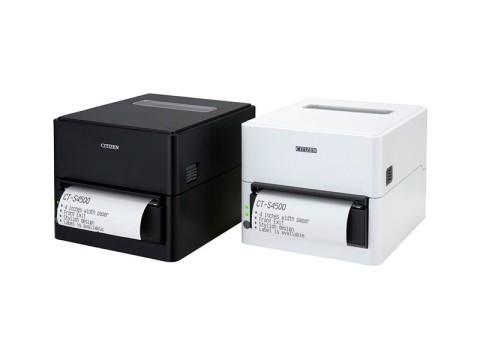 CT-S4500 - Bon-/Etikettendrucker mit Abschneider, thermodirekt, 112mm, USB + Bluetooth, weiss