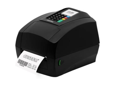 D4-302-K - Etikettendrucker, Thermotransfer, 203dpi, USB + RS232, Display, Tastatur, schwarz